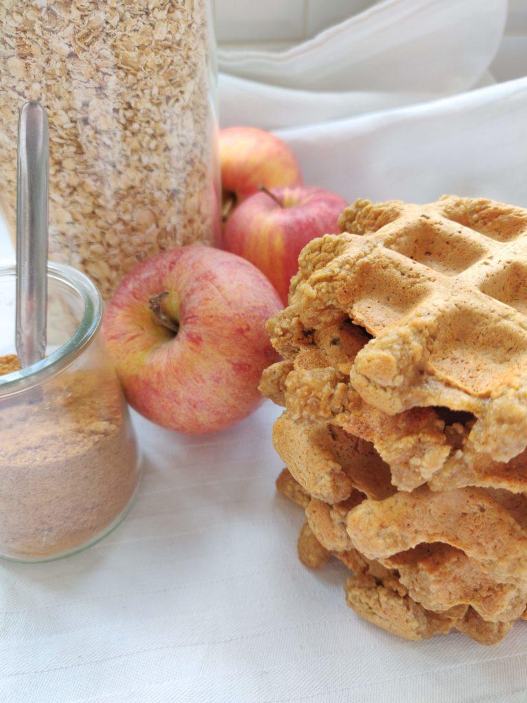 vegan wafels met havermout en appelmoes glutenvrij